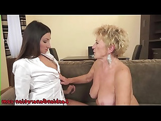 Bigtit babe pussylicked by saggy grandma