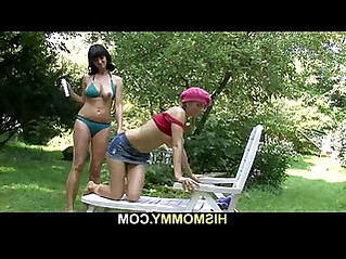 His lesbian mom and girl enjoy great time together